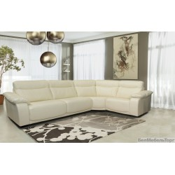 """Угловой кожаный диван """"Исландия"""" 3мL/R.90.1R/L"""