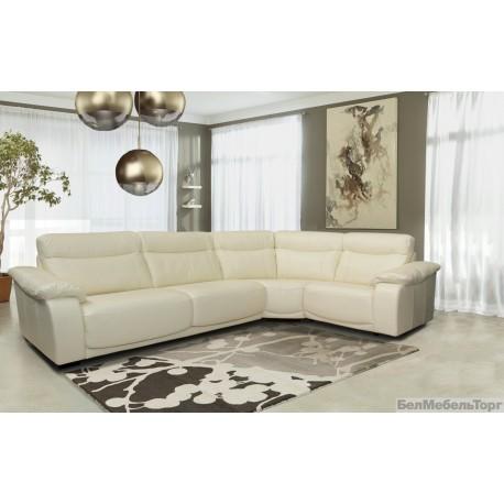 Угловой кожаный диван «Исландия»