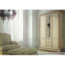Виола шкаф трехстворчатый комбинированный (ШТГ-4)