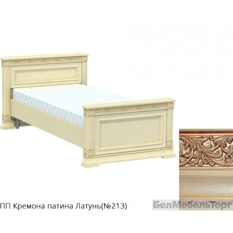 Кровать односпальная высокая «Патриция» КВ-90