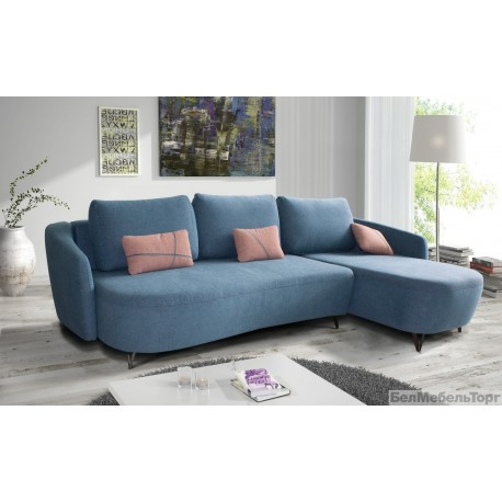 """Угловой тканевый диван """"Калифорния"""" 2мL/R.6R/L"""