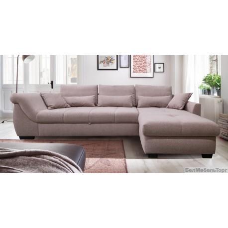 """Угловой тканевый диван """"Корса"""" 3мL/R.8мR/L (с механизмом)"""