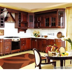 Кухня из массива Ольхи Т 307/113