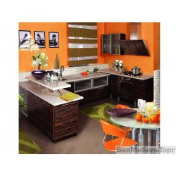 Кухня Тафель 3 шпон Зебрано глянец