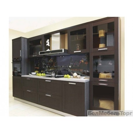 Кухня Техно 1 ПП Каштан