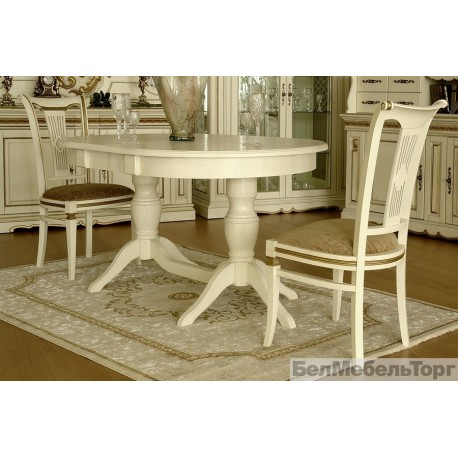 Верди 2РД стол обеденный П106.06-01 слоновая кость