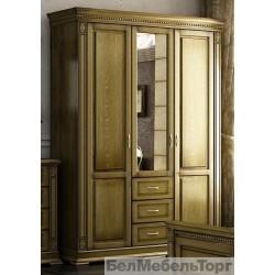 Верди шкаф трехдверный для одежды П095.10 дуб