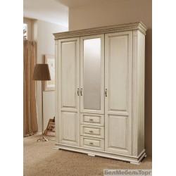Верди шкаф трехдверный для одежды П095.10 слоновая кость
