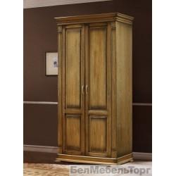 Верди шкаф двухдверный для одежды П095.11 дуб
