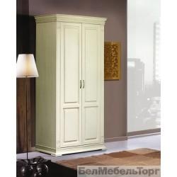 Верди шкаф двухдверный для одежды П095.11 слоновая кость