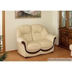 Двухместный кожаный диван Дельта