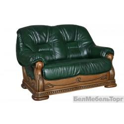 Двухместный кожаный диван Консул 23