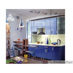 Кухня Люкс Синий металлик
