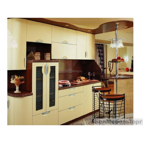 Кухня Модена Желтый лен