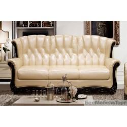 Трёхместный кожаный диван Европа