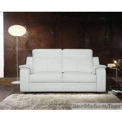 Трёхместный кожаный диван Люксор