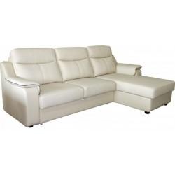 Угловой кожаный диван Люксор