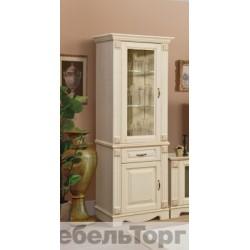 Шкаф комбинированный Венето 1 (П 405.34) слоновая кость
