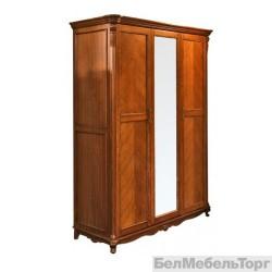 Шкаф 3х дверный «Алези»  П 349.01 античная бронза