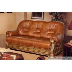 Трехместный кожаный диван Консул 23