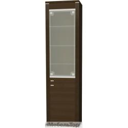 Шкаф-витрина Монте 1V с рисунком
