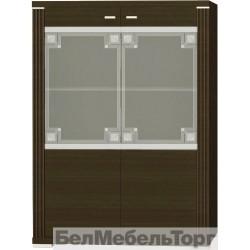 Шкаф-витрина Монте 2VL с рисунком