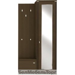 Шкаф Монте с зеркалом и вешалкой P