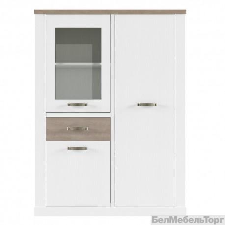 Шкаф с витриной Прованс 1V2D1S