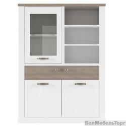 Шкаф с витриной Прованс 1V2D1SN