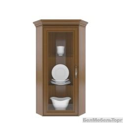 Шкаф с витриной Тиффани 1VU каштан
