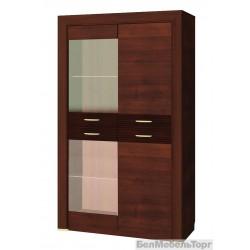 Шкаф-витрина Вена 2V2D
