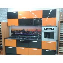 Кухонный гарнитур  Эмаль  (оранж\черный)