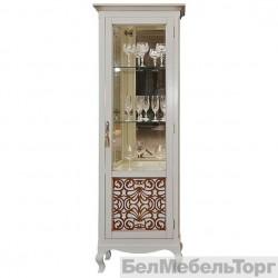 Шкаф с витриной «Видана 1з» (П 427.01з) светлый ром