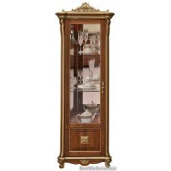 "Шкаф с витриной ""Алези 8 Люкс"" (П350.08-01л) античная бронза"