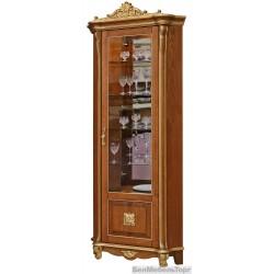 "Шкаф с витриной ""Алези 10 Люкс"" (П350.13л) античная бронза"