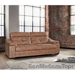 Трехместный кожаный диван «Барселона»