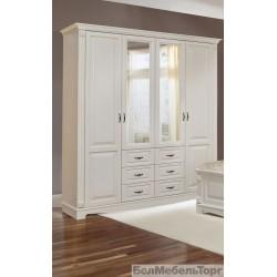 Шкаф Венето 4-х дверный (слоновая кость)
