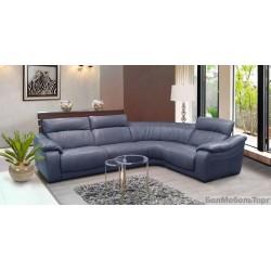 Угловой кожаный диван Белладжио
